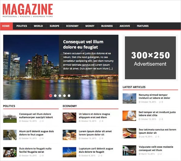 news free wordpress theme