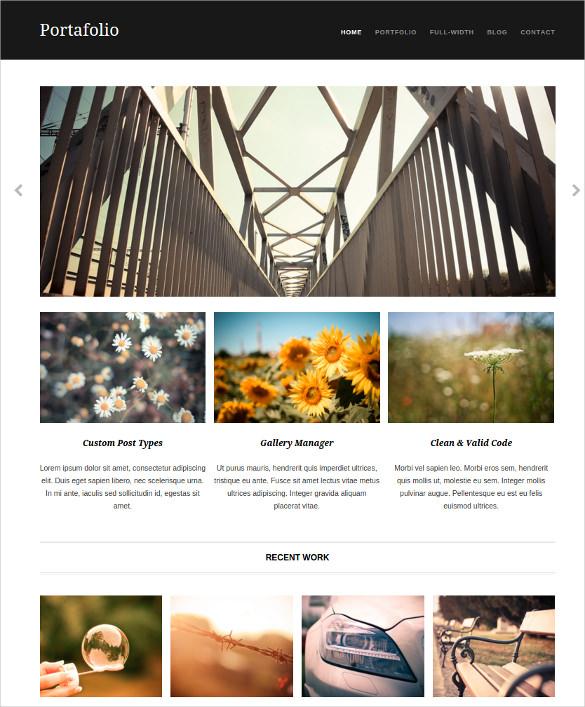 portafolio free responsive portfolio wordpress theme
