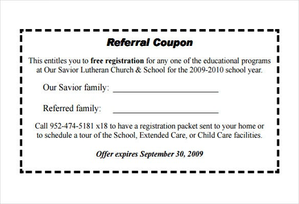 18 referral coupon templates free sample example for Coupon making template