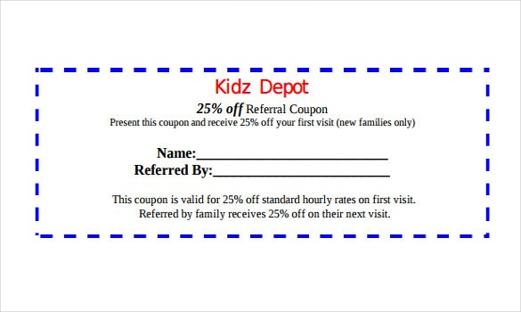 17 Referral Coupon Templates Free Sample Example Format – Coupon Disclaimer Example
