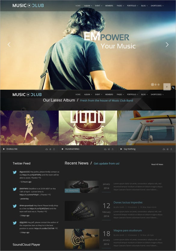 club party wordpress theme