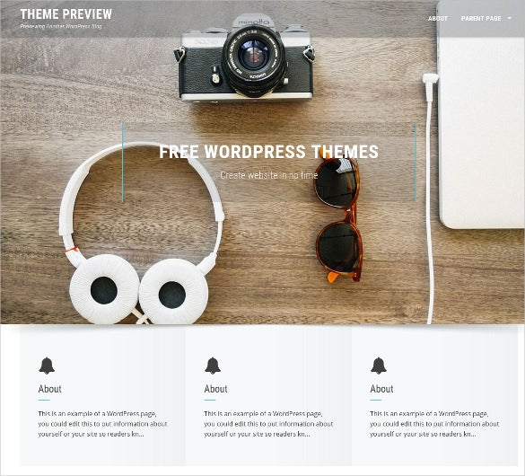 minimal free wordpress theme for personal portfolio