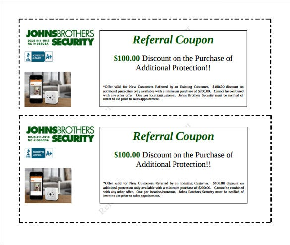 Security Works Referral Coupon Template Download Intended Coupon Sample Template