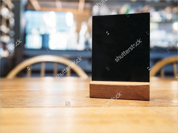 sample mock up black menu frame template