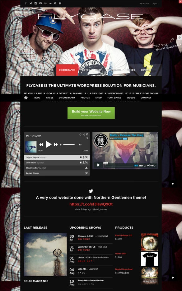 complete music solution for wordpress theme