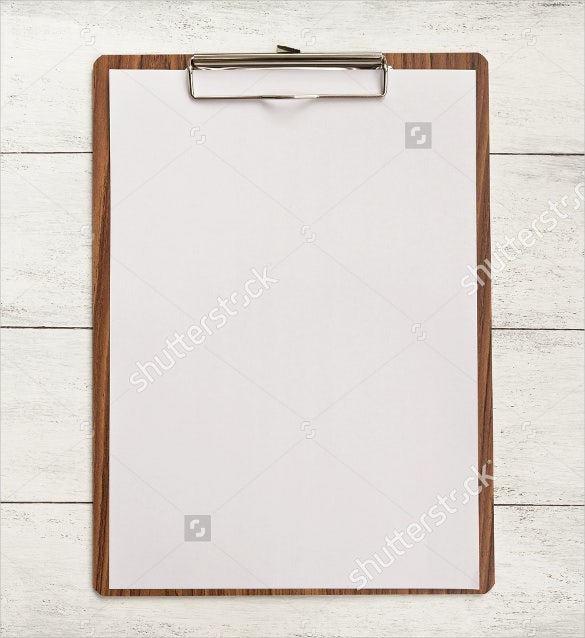 blank menu with wood background template sample download