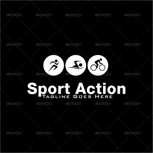 sport action logo template design