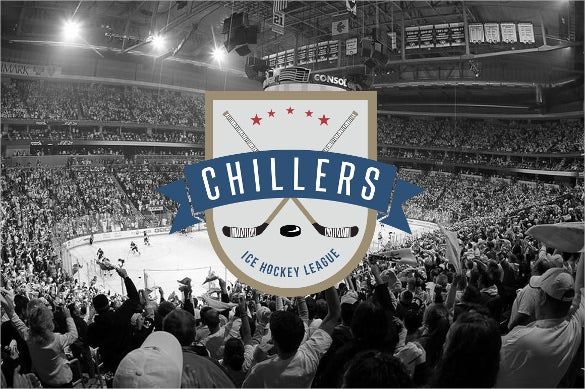 amazing ice hockey sports logos template