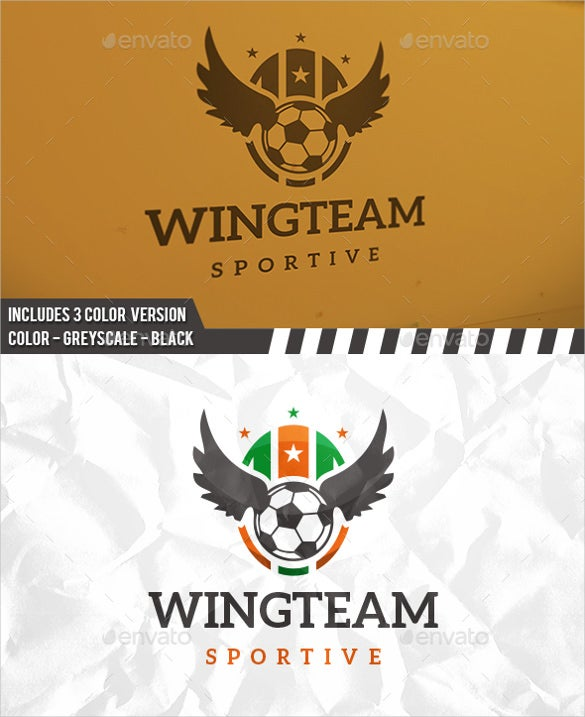 football sport logo professional design