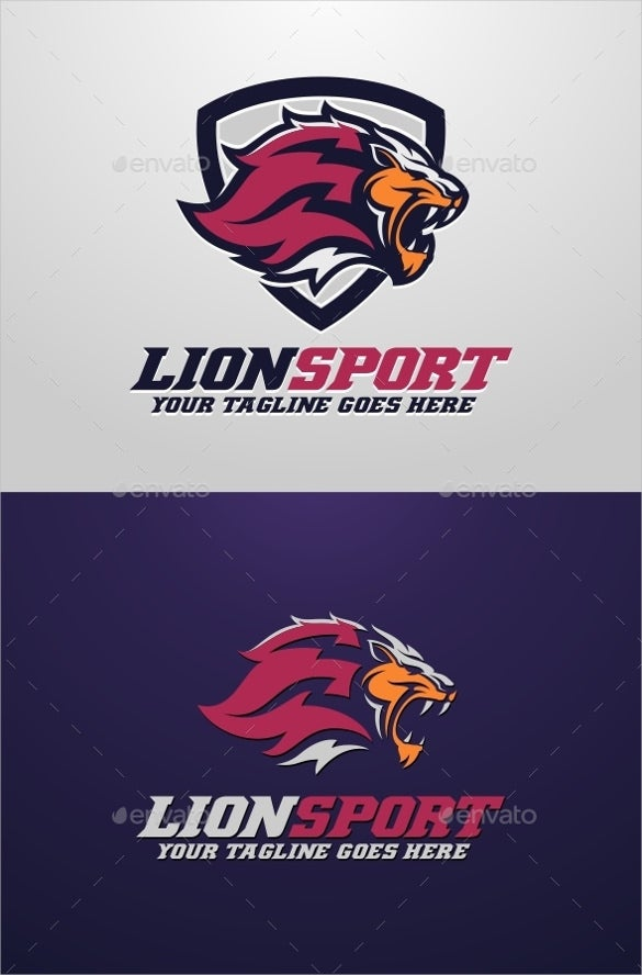 royal lion sport logo template