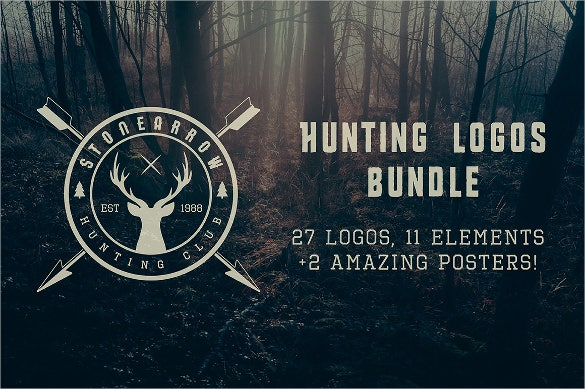 amazing hunting logo bundle download