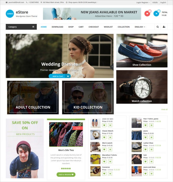 beautiful free wordpress template for shop zone
