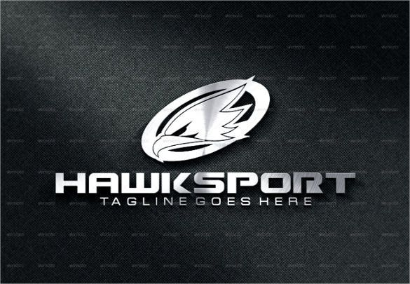 eagle sport logo template design