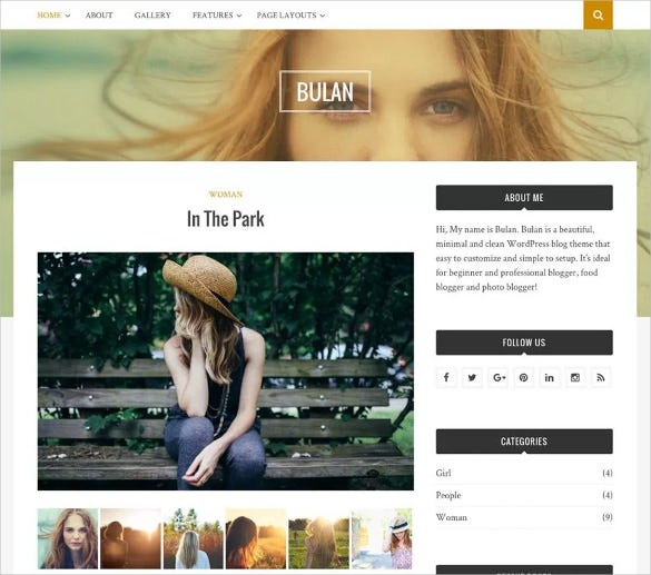 photo blogger free wordpress template