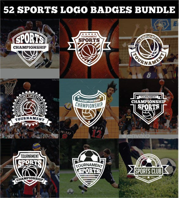 52 sports logo bundle download