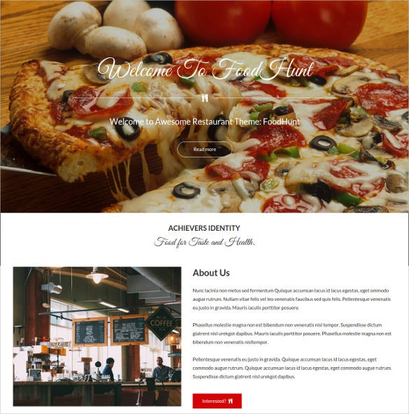 foodhunt free wordpress theme