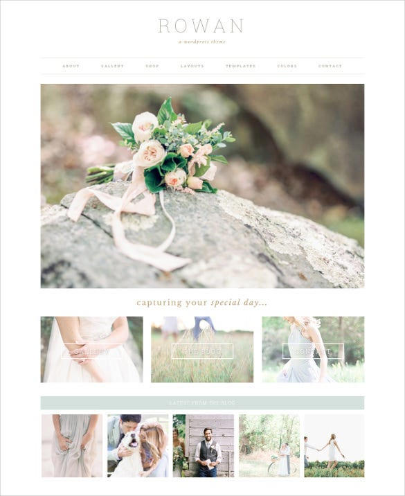 special purpose wordpress template