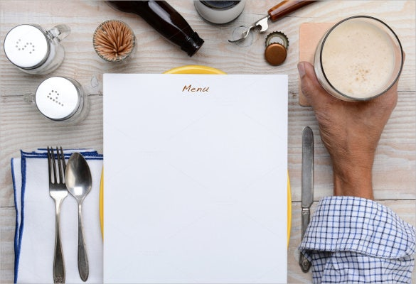 blank menu and beer template sample download