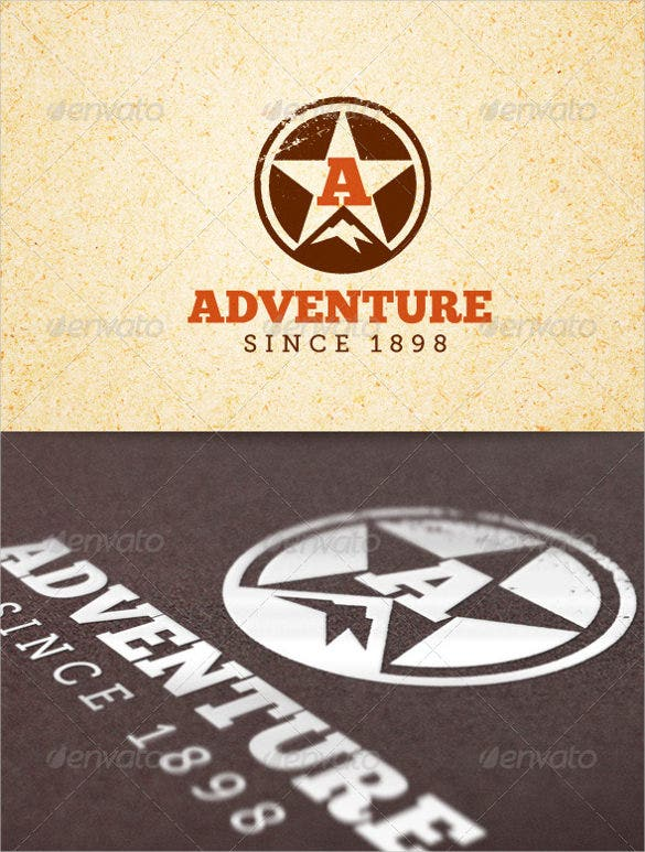 simple adventure sports logo template