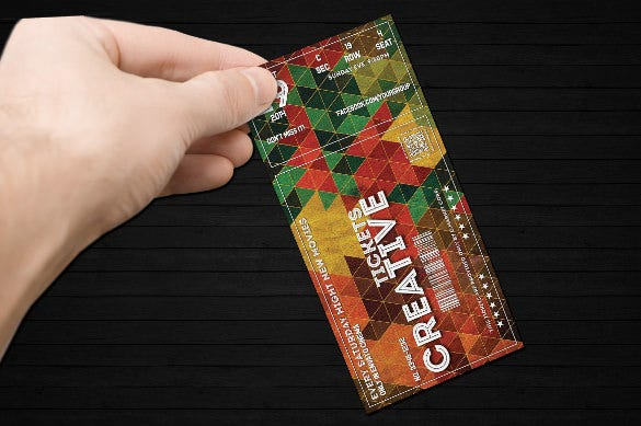 creative ticket easy editable design download