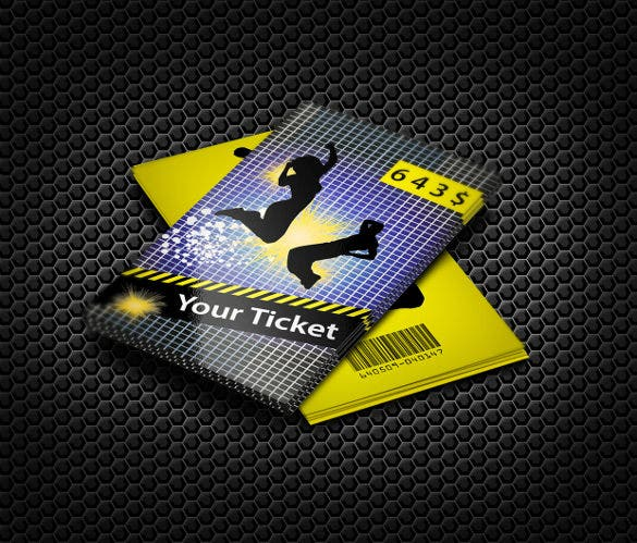 dance creative ticket design free download