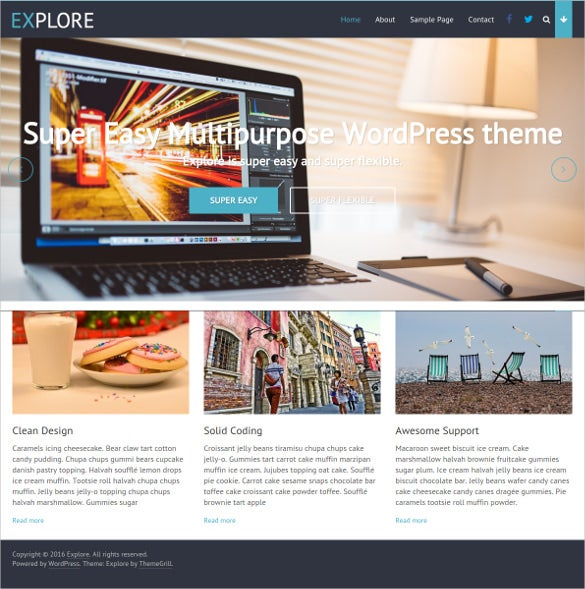 simple multipurpose free wordpress theme