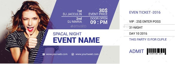 special night creative ticket design premium download