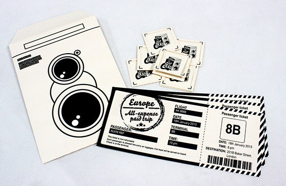 letterhead and envelope creative music ticket design