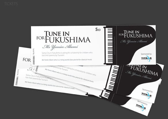 tune in for fukushima ticekt design