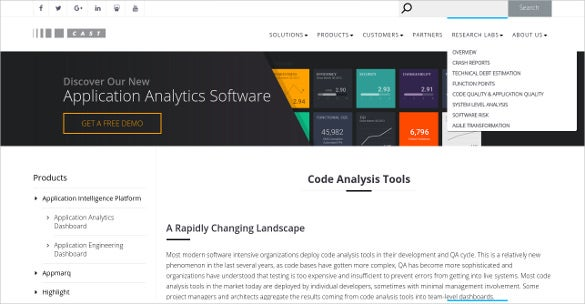 cast software code analysis tools