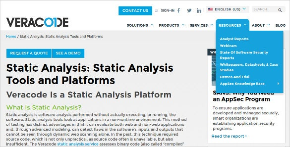 c c static code analysis tools and platforms