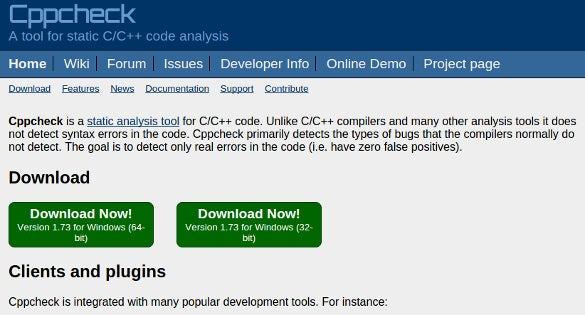 download cppcheck static code analysis tool