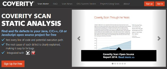 scan coverity static code analysis tool download