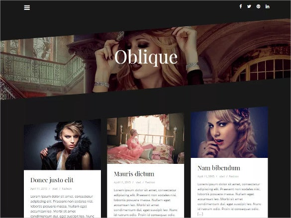 fashion free wordpress template