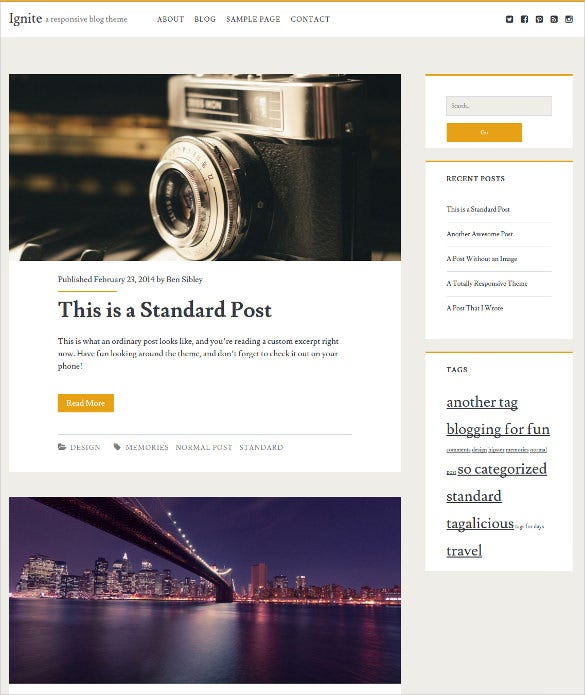 blog free wordpress template