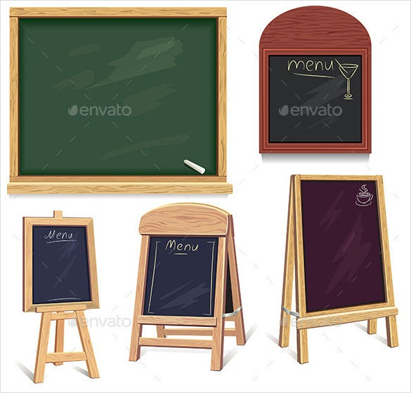 blank menu board vector eps format download
