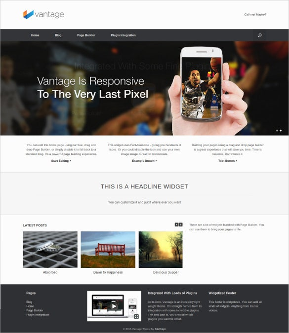 advance multipurpose free wordpress theme