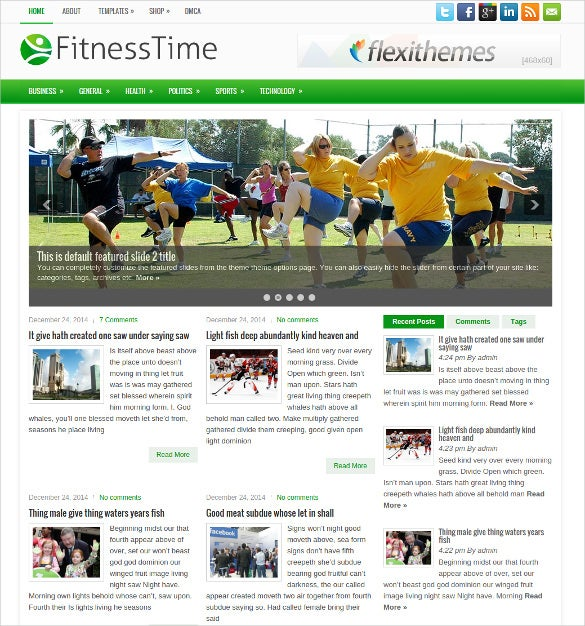 health care fitness free wordpress theme