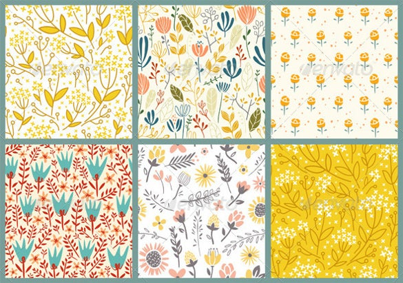 collection of flower pattern