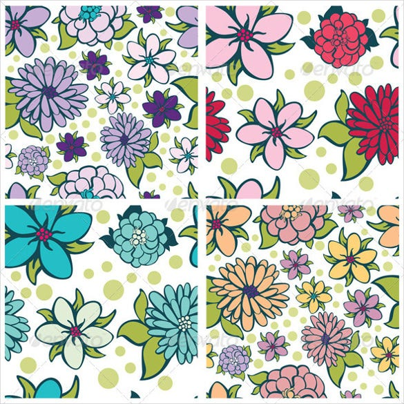 fabric swatch flower pattern