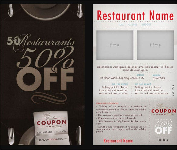 21 coupon book templates free sample example format download