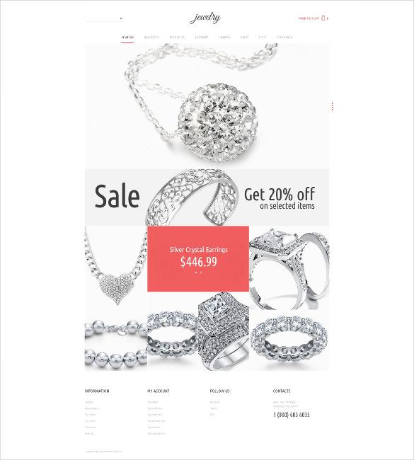 diamond jewelry psd template