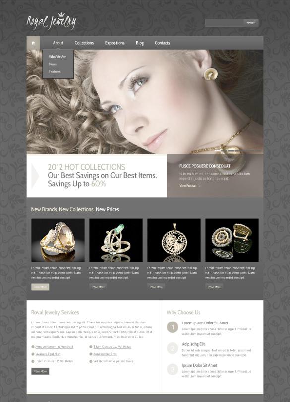 wedding jewelry psd template