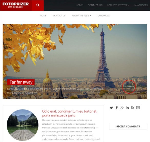 tourist visiting places free wordpress theme