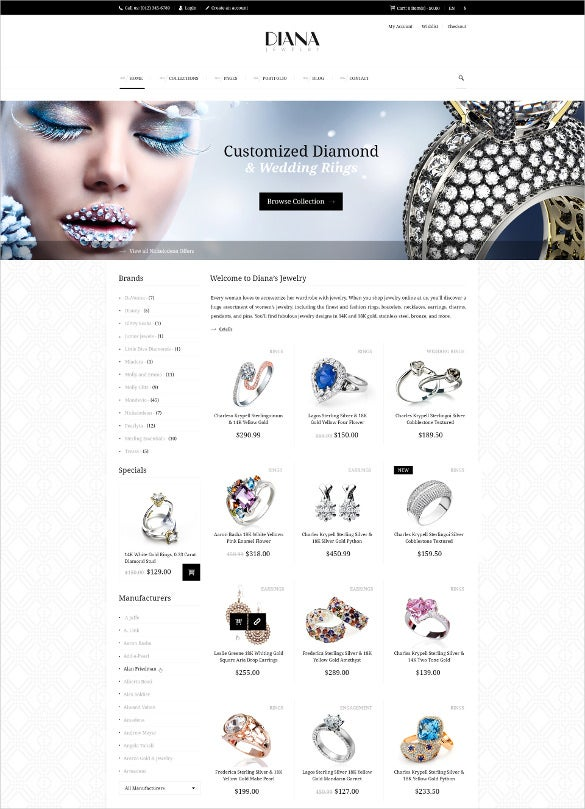 Creative Jewelry Psd Template 11