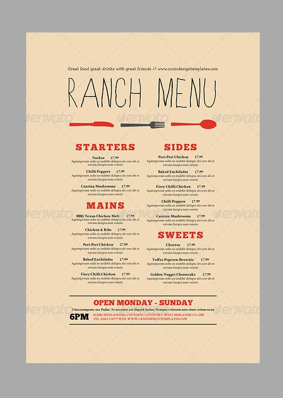 47 Menu Card Templates Ai Psd Docs Pages Free Premium