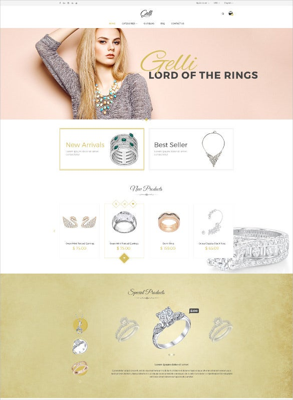jewelry accessories psd template