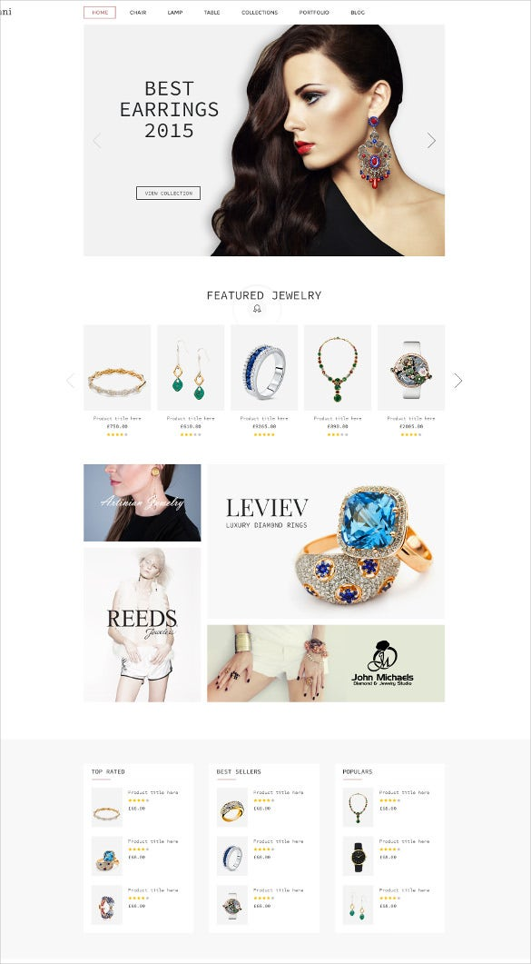 multi purpose ecommerce jewelry psd template