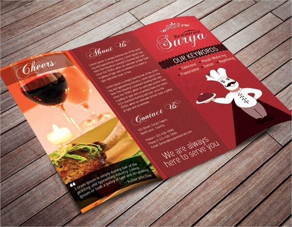 example restaurant menu card template download