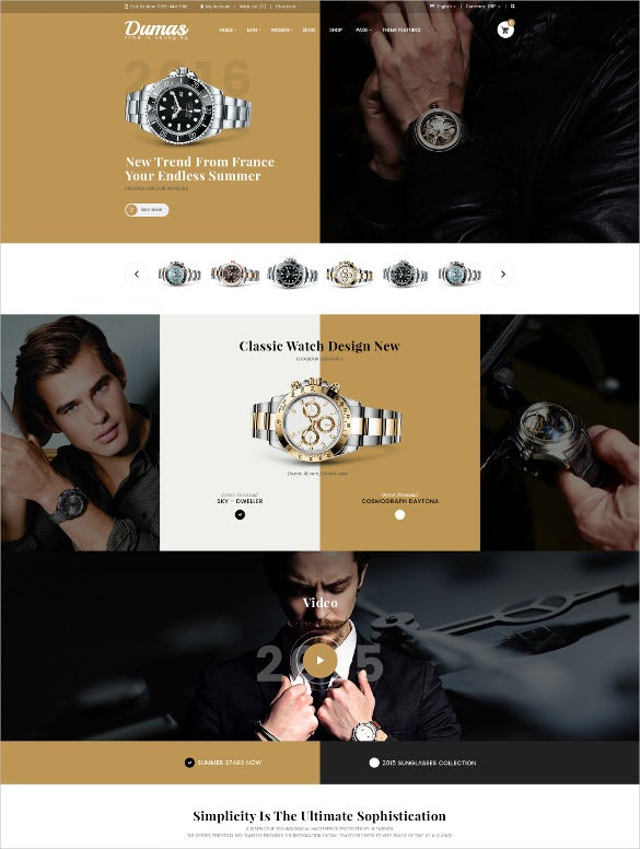 multipurpose jewelry ecommerce psd template